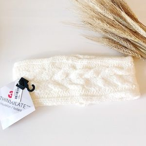 ⭐️3/25$ Cable knit headband insulated white